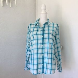Riders by Lee light blue flannel button down, XXL